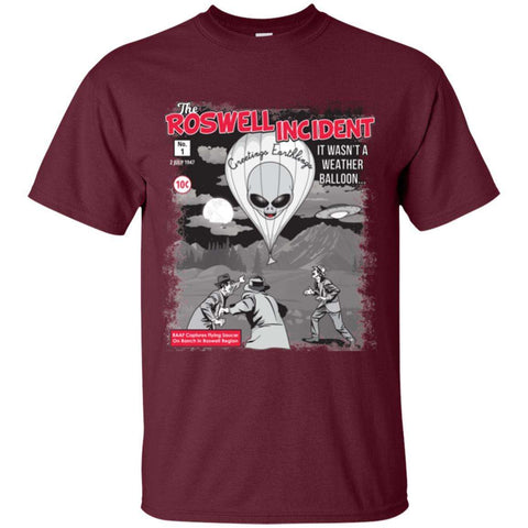 """The Roswell Incident July 1947"" World UFO Day Unisex Cotton T-Shirt"