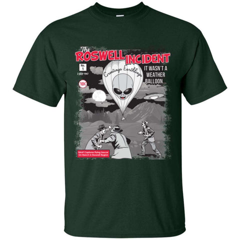 """The Roswell Incident July 1947"" World UFO Day Men's Cotton T-Shirt"