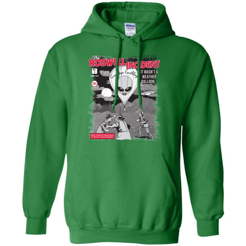 """The Roswell Incident July 1947"" World UFO Day Unisex Pullover Hoodie"