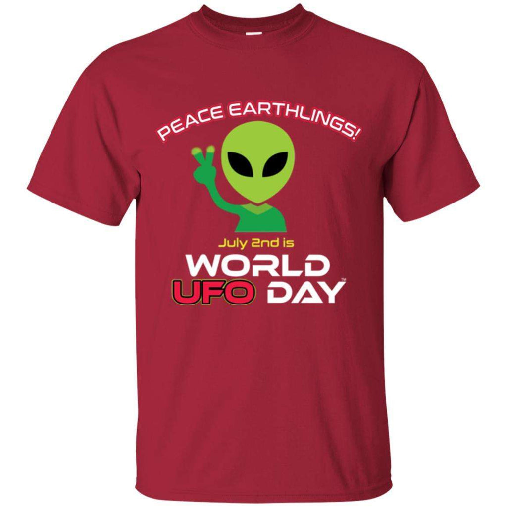"World UFO Day 2018 ""Peace Earthlings"" Ultra Cotton Unisex T-Shirt"