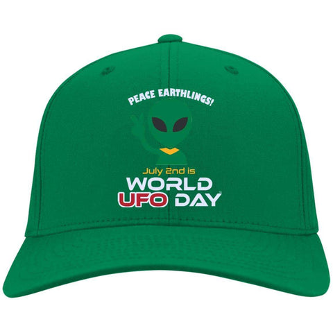 "World UFO Day ""Peace Earthlings!"" Limited Edition Embroidered Cap"