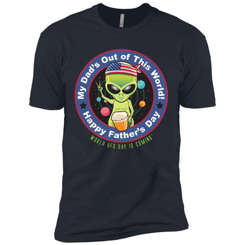 ALIEN Happy Father's Day Men's Short Sleeve T-Shirt