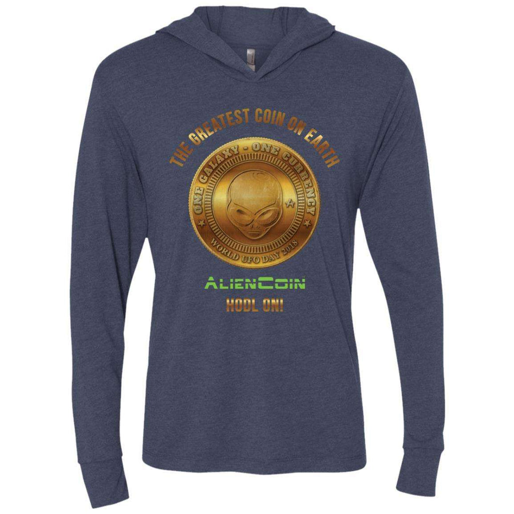 AlienCoin HODL ON! Unisex Triblend LS Hooded Limited Edition Tee