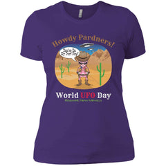 "ALIEN COWGIRL ""Howdy Pardners"" Ladies' Boyfriend T-Shirt"