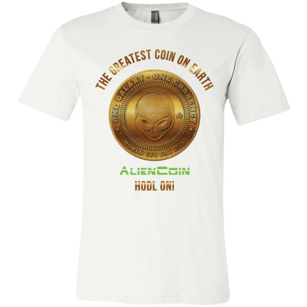 AlienCoin HODL ON! Unisex Jersey Short-Sleeve Limited Edition T-Shirt
