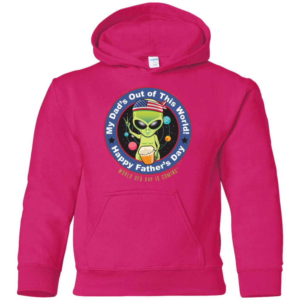ALIEN Happy Father's Day Youth Unisex Pullover Hoodie
