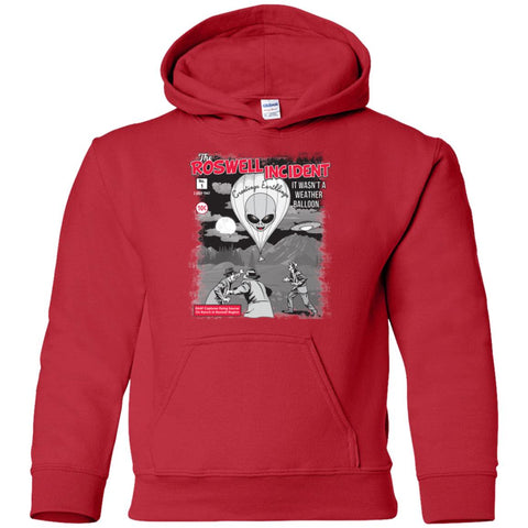 """The Roswell Incident July 1947"" World UFO Day Youth Unisex Pullover Hoodie"
