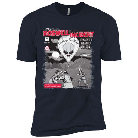 """The Roswell Incident July 1947"" World UFO Day Men's Premium Short Sleeve T-Shirt"