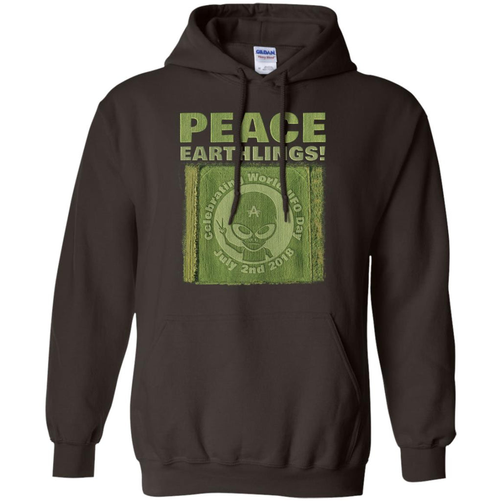 "World UFO Day 2018 ""Crop Circle"" Unisex Pullover Hoodie"