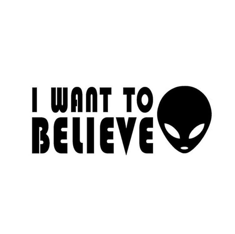 I Want To Believe Alien Decal for Cars and Other Smooth Surfaces