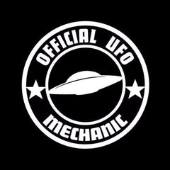 Official UFO Mechanic Alien Decal for Cars and Other Smooth Surfaces