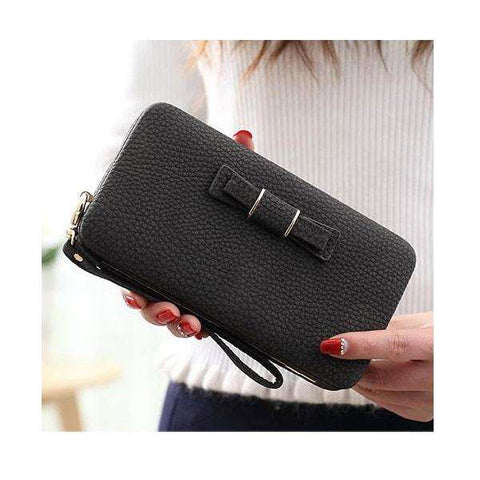 Ladies Leather Wallet and Mobile Clutch Purse