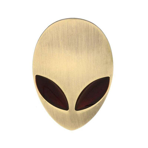 3D Alien Head Auto Decals for Cars in 5 Fantastic Colors