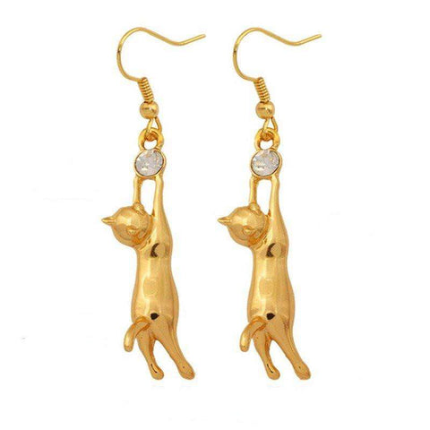 Cat Jewelry - Kitty Cat Earrings
