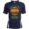 "Image of ""One Galaxy One Currency AlienCoin"" World UFO Day Men's Colorblock Dry Zone Crew Shirt"