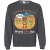 Image of Howdy Pardners! World UFO Day Alien Cowboy Men's Crewneck Pullover Sweatshirt