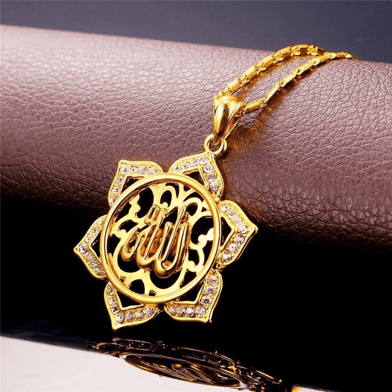 Allah Rhinestone Necklace for Women