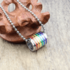 Image of Rainbow Loop Pendant Necklace