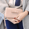 Image of Ladies Leather Wallet and Mobile Clutch Purse