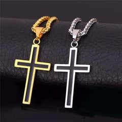 Cross Pendant Necklace - Religious Pendant Necklace