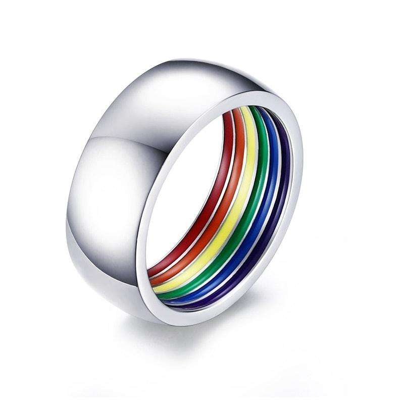 Rainbow Promise Ring