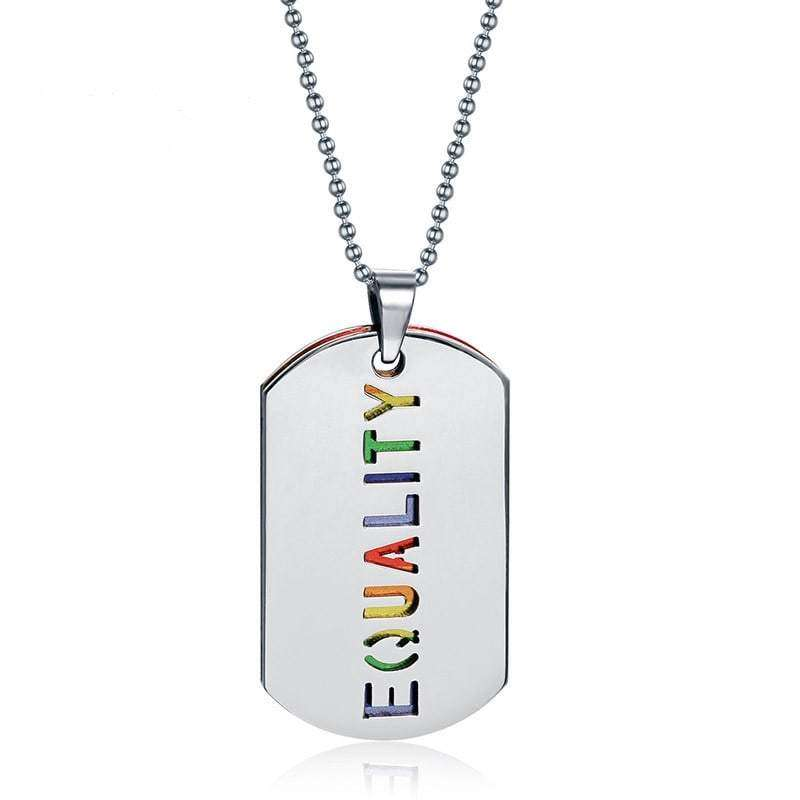 Rainbow Pride Equality Pendant Necklace