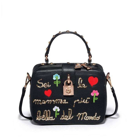 """You're The Most Beautiful Mother In The World"" Embroidered Handbag"