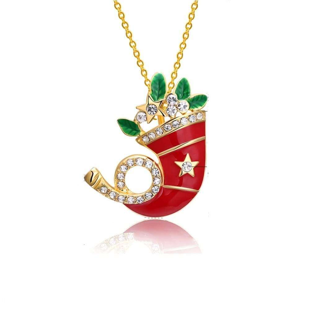 Christmas Stocking Pendant Necklace