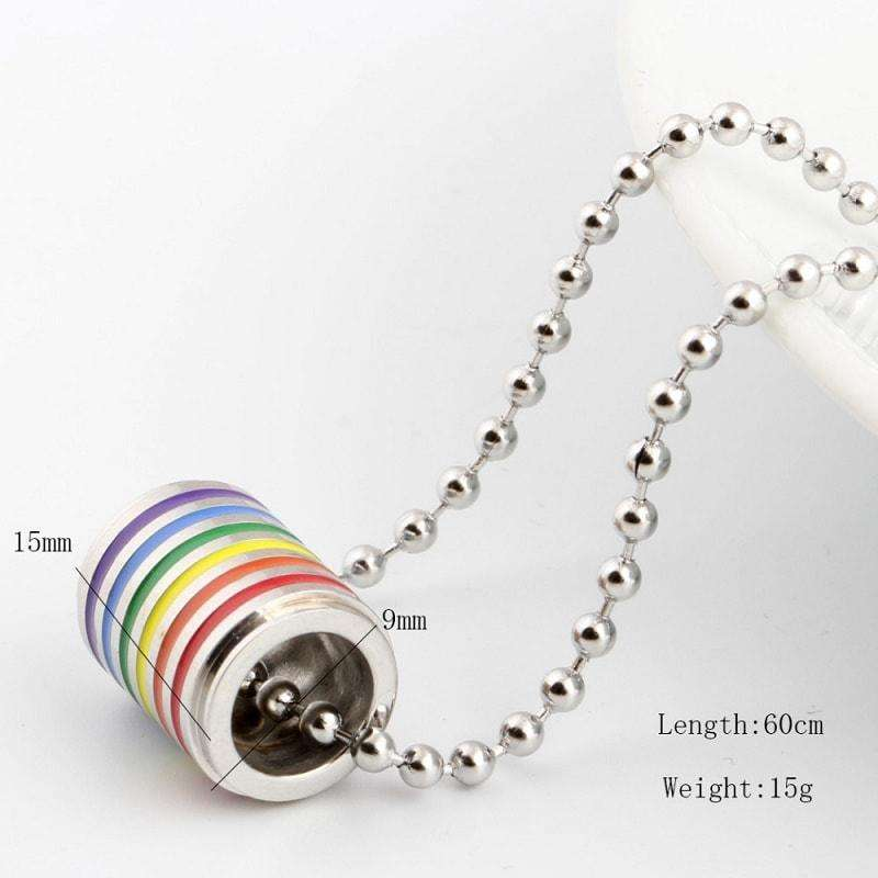 Rainbow Loop Pendant Necklace