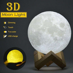 Dazzling 3D Moon Night Light - 50% Off Black Friday Special