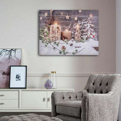 Christmas LED Light Canvas Picture