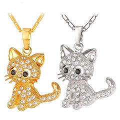 Fashion Kitty Pendant Necklace - 45% Off Black Friday Special