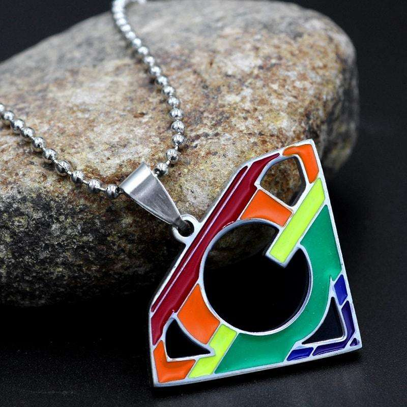 Rainbow Super Gay Pendant Necklace