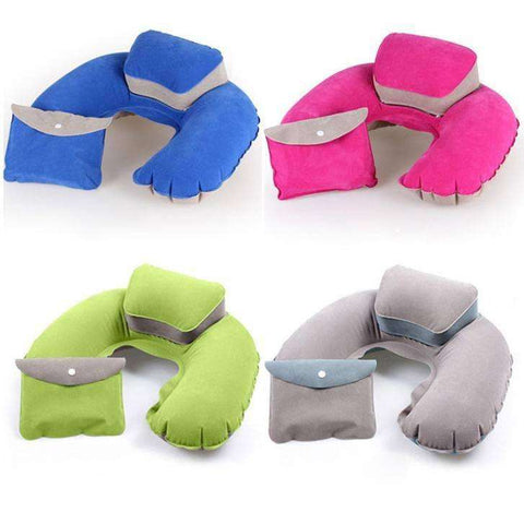 Travel Pillows - Inflatable Travel Air Cushion