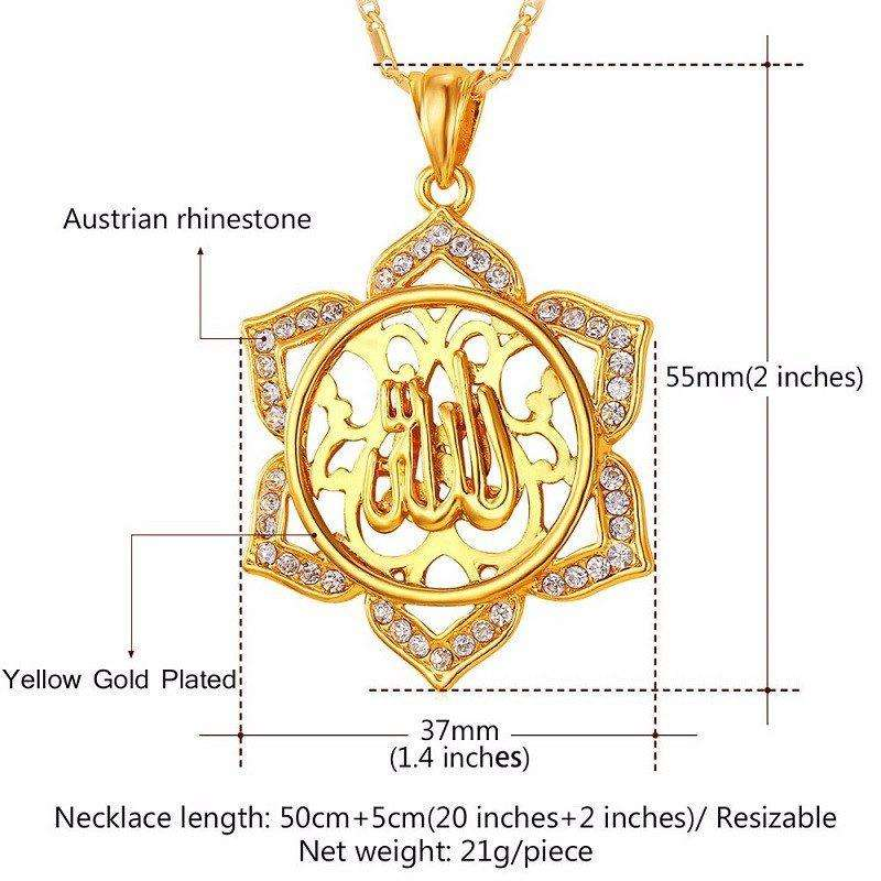 Women Allah Necklace - Allah Rhinestone Necklace For Women