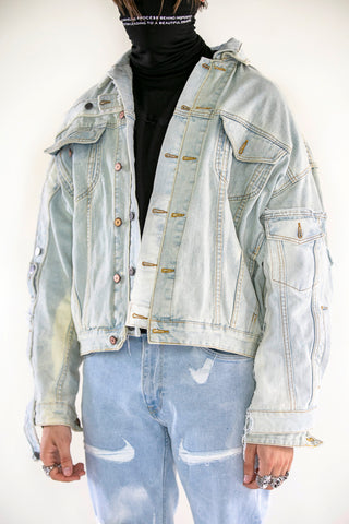 Merged Denim Jacket Blue
