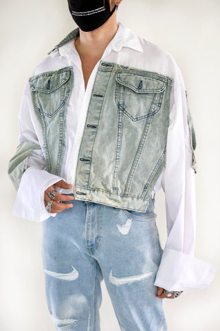 Merged Denim Shirt