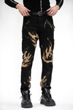 BLACK FLAME DENIM