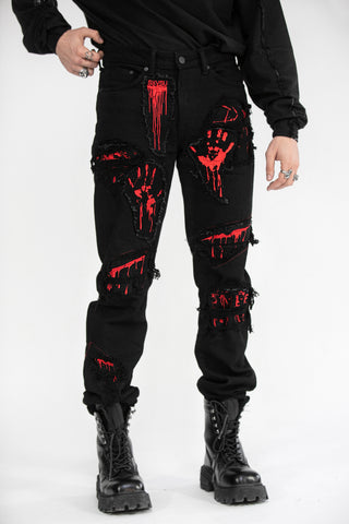 Gore Embroidered Denim