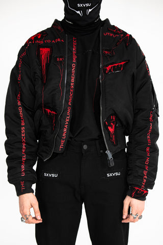 Gore Embroidered Bomber Jacket