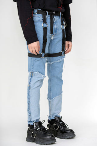 Unraveled Harness Denim Blue