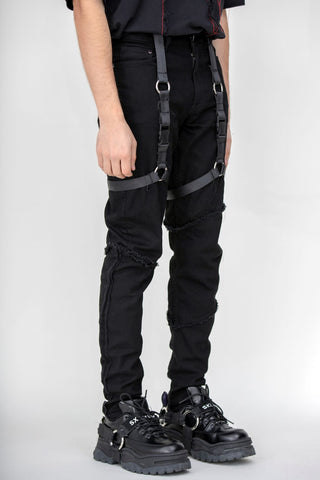 Unraveled Harness Denim Black
