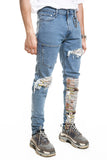 RUSTY NEWSPAPER DENIM BLUE