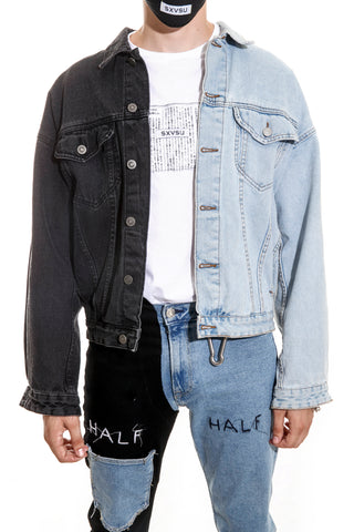 HALF/HALF DENIM JACKET
