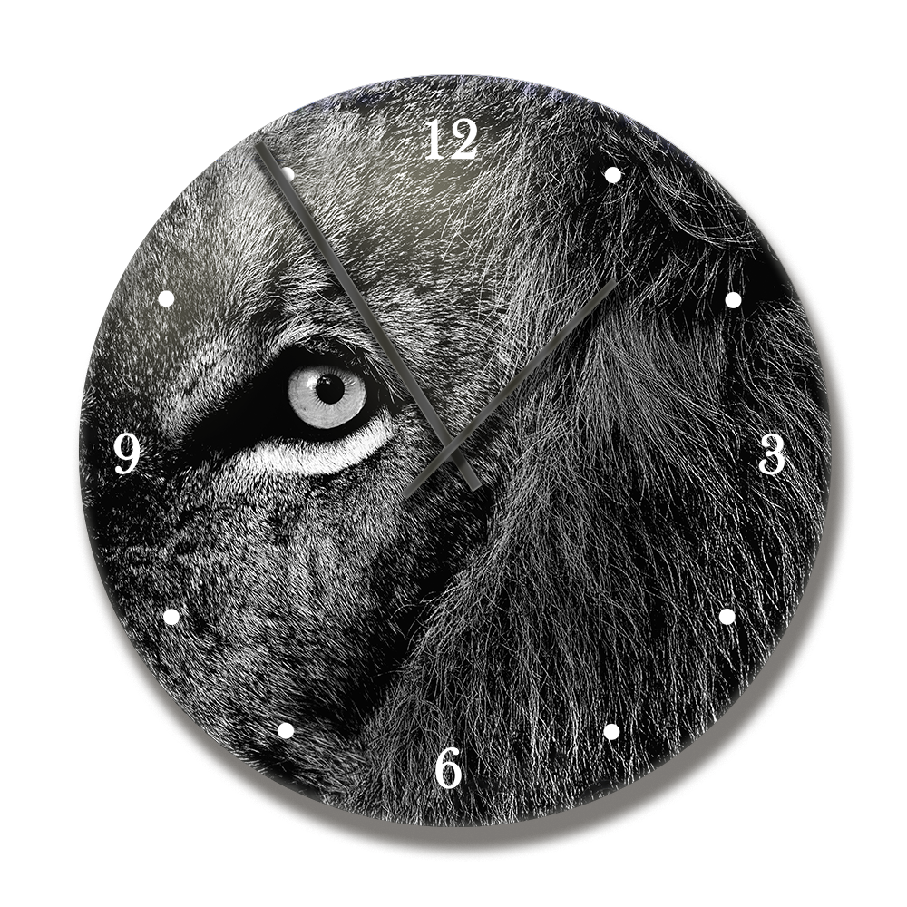 PrintWld Clock with Reflection Lion - HPH Publishing
