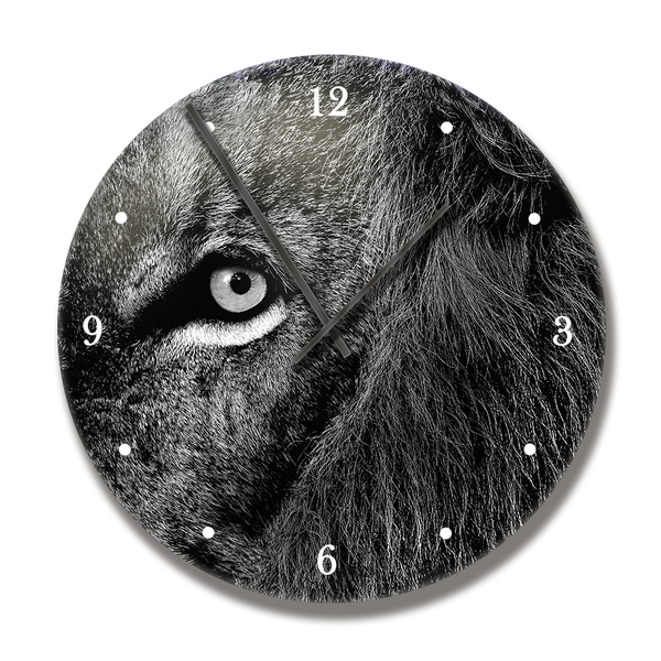 Clock with Reflection Lion image - HPH Publishing