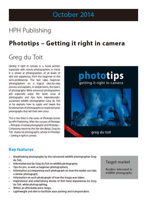 PhotoTips: Getting it Right in Camera - HPH Publishing
