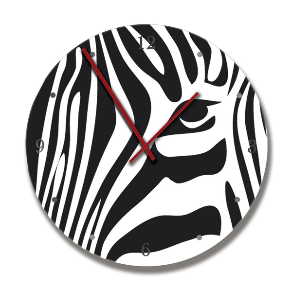 Clock with stylised Zebra image - HPH Publishing