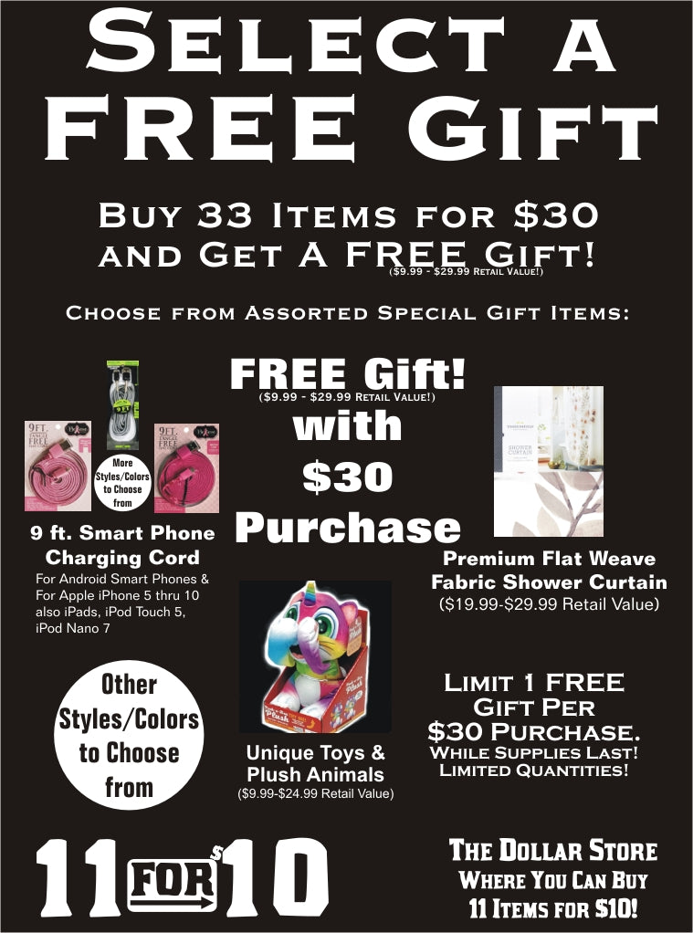 Free Fanatic Perks at 11 for $10 - Everything $1 Store
