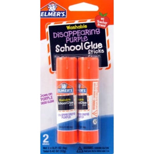 Washable Disappearing Purple School Glue Sticks (2 Pack)